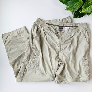 Columbia | Khaki Convertible Hiking Pants XL